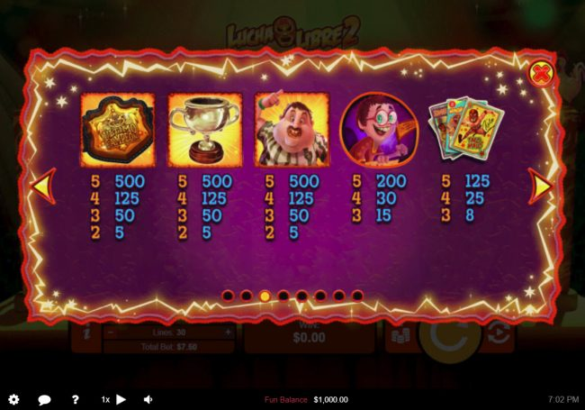 Las Vegas USA featuring the Video Slots Lucha Libre 2 with a maximum payout of $50,000