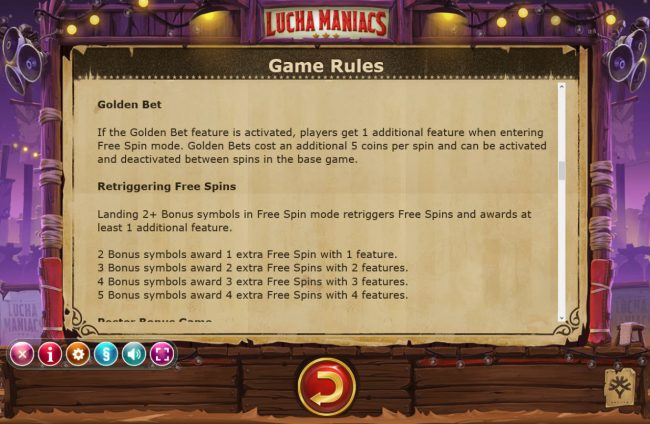 Malina featuring the Video Slots Lucha Maniacs with a maximum payout of $60,000