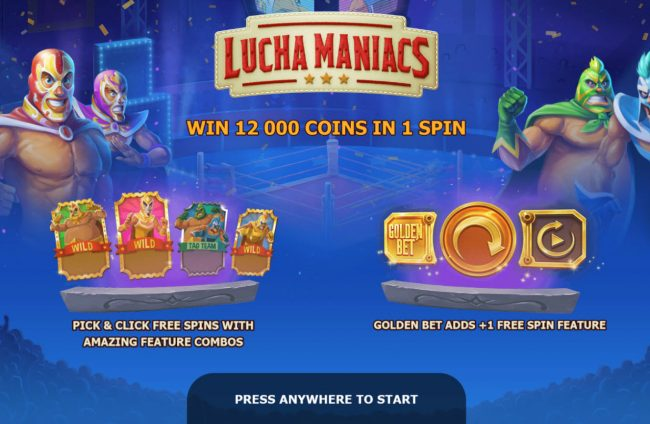 Buran featuring the Video Slots Lucha Maniacs with a maximum payout of $60,000