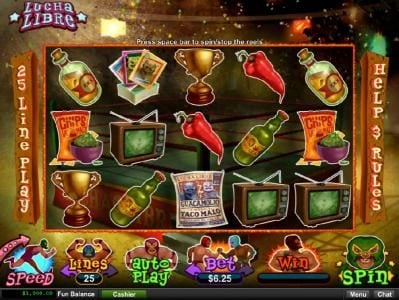 Royal Ace featuring the Video Slots Lucha Libre with a maximum payout of $250,000