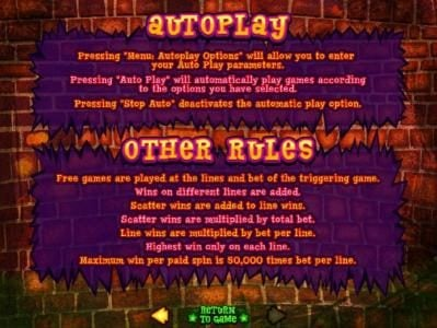 Auotplay and other rules.
