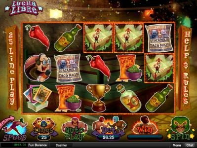 Sun Palace featuring the Video Slots Lucha Libre with a maximum payout of $250,000