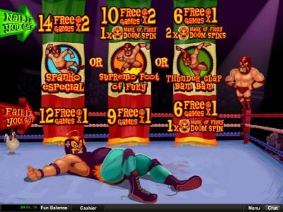 Play slots at Platinum Reels: Platinum Reels featuring the Video Slots Lucha Libre with a maximum payout of $250,000