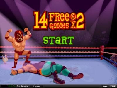 Grande Vegas featuring the Video Slots Lucha Libre with a maximum payout of $250,000