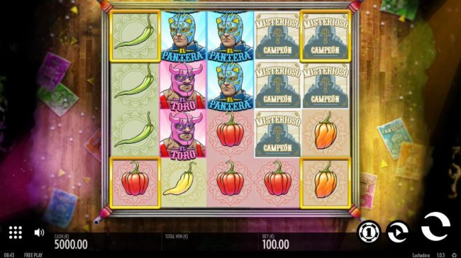 Jetbull featuring the Video Slots Luchadora with a maximum payout of $2,500