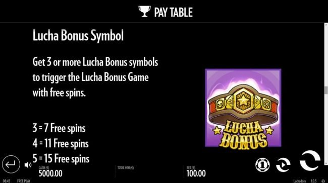 Come On featuring the Video Slots Luchadora with a maximum payout of $2,500