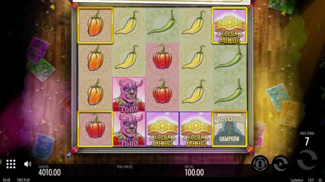 ZigZag777 featuring the Video Slots Luchadora with a maximum payout of $2,500
