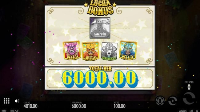 Total free spins payout 600.000