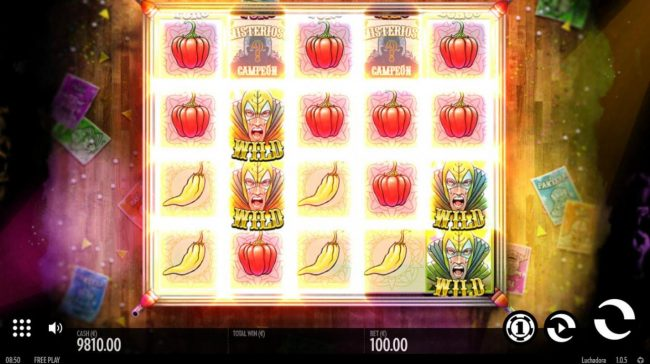 Fruity Casa featuring the Video Slots Luchadora with a maximum payout of $2,500
