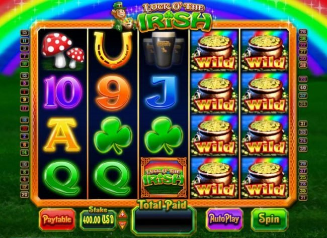 Tangiers featuring the Video Slots Luck O' the Irish with a maximum payout of $5,000