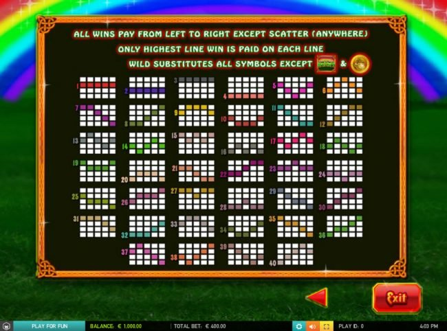 Wicked Jackpots featuring the Video Slots Luck of the Irish with a maximum payout of $50,000