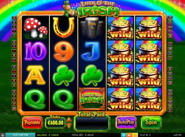 Play slots at Cheeky Riches: Cheeky Riches featuring the Video Slots Luck O' the Irish with a maximum payout of $50,000