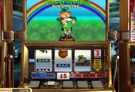 Play slots at Lincoln: Lincoln featuring the Video Slots Luck o' the Irish with a maximum payout of $24,000