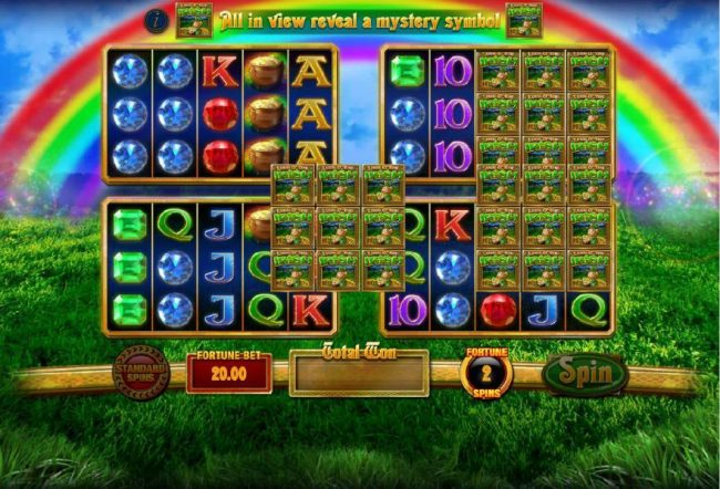 Spinrider featuring the Video Slots Luck O' The Irish Fortune Spins with a maximum payout of $25,000.00