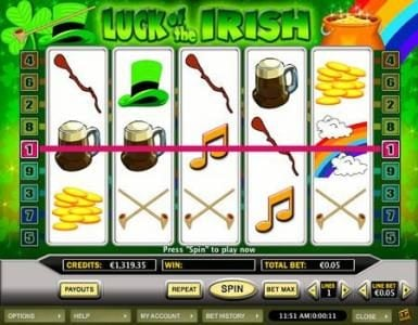 Celtic featuring the Video Slots Luck of the Irish with a maximum payout of $20,000