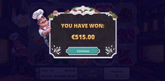 Total free spins bonus payout 515 credits