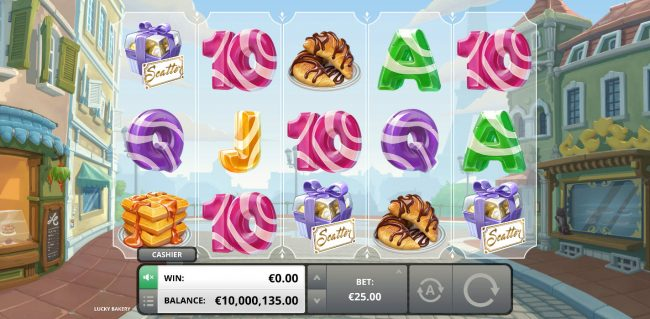 Three scatters triggers free spins feature