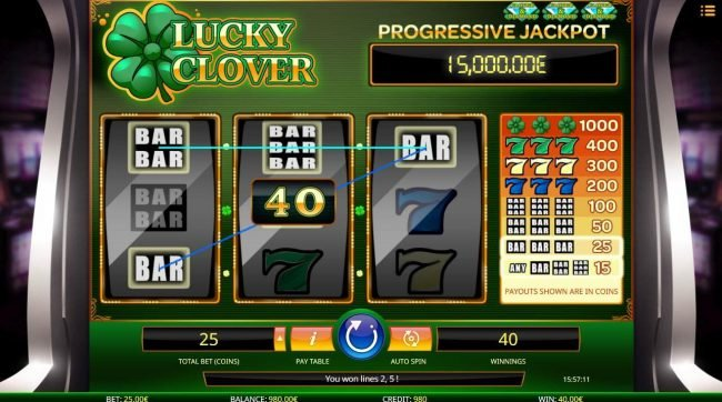 Llama Casino featuring the Video Slots Lucky Clover with a maximum payout of Jackpot