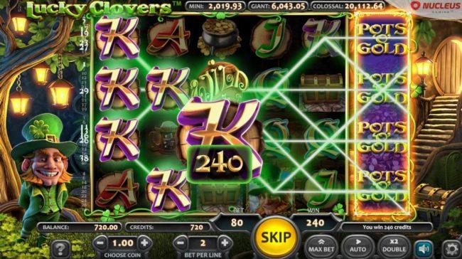 Lucky Clovers :: Bonus feature triggered