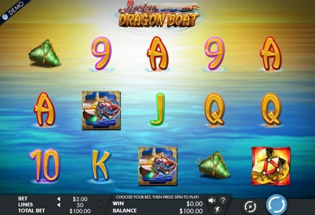 Play slots at All Jackpots: All Jackpots featuring the Video Slots Lucky Dragon Boat with a maximum payout of $1,500