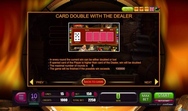 Oshi featuring the Video Slots Lucky Drink with a maximum payout of $1,500,000