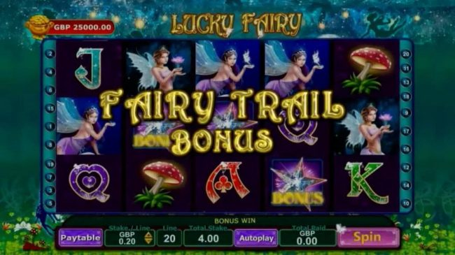 Rizk featuring the Video Slots Lucky Fairy with a maximum payout of Jackpot