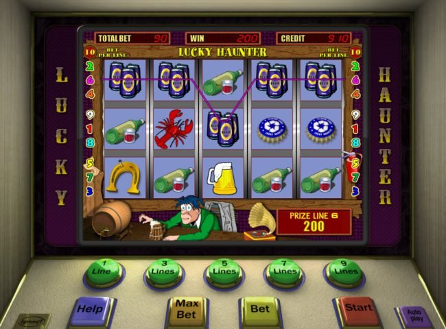 Yoyo featuring the Video Slots Lucky Haunter with a maximum payout of $7,500