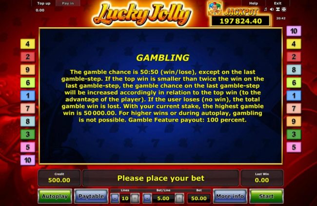 All British featuring the Video Slots Lucky Jolly with a maximum payout of Jackpot