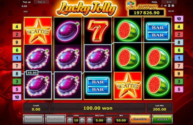 Quasar featuring the Video Slots Lucky Jolly with a maximum payout of Jackpot