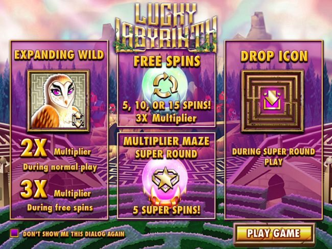 Supernova featuring the Video Slots Lucky Labyrinth with a maximum payout of $6,250
