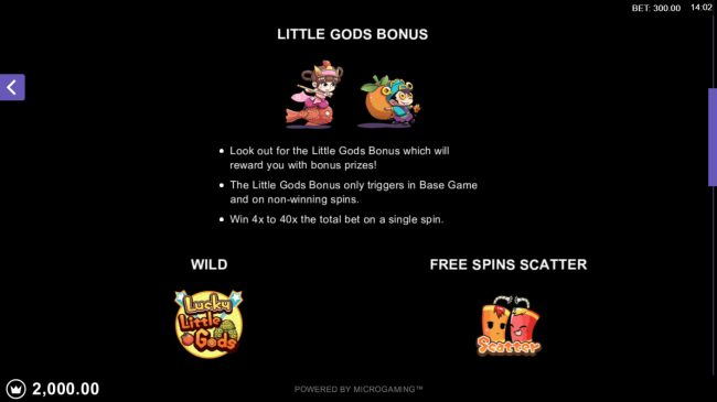 Fortune Room featuring the Video Slots Lucky Little Gods with a maximum payout of $130,000