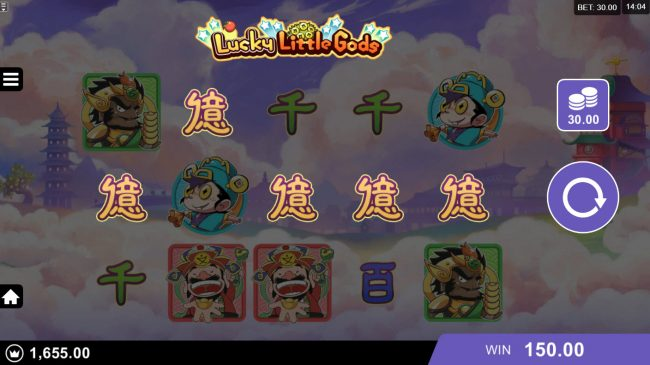 Svedala featuring the Video Slots Lucky Little Gods with a maximum payout of $130,000