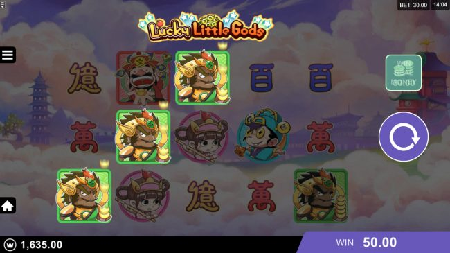 Mummys Gold featuring the Video Slots Lucky Little Gods with a maximum payout of $130,000