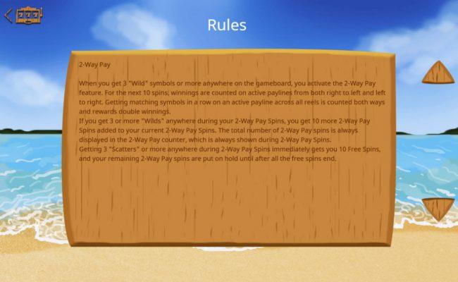 Lucky Mai Tai :: 2-Way Pay Rules