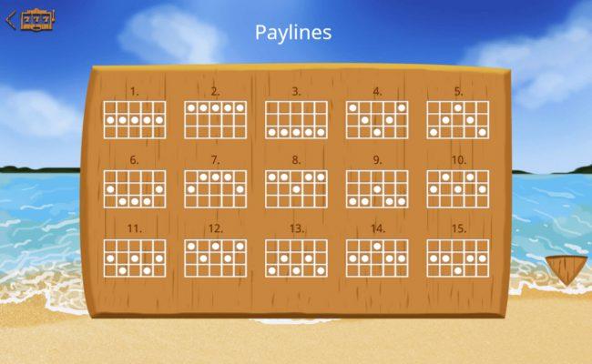 Lucky Mai Tai :: Paylines 1-15