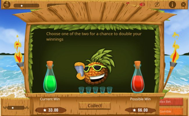 Lucky Mai Tai :: Gamble Feature Game Board