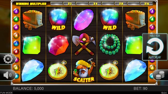 Play slots at Bet Shah: Bet Shah featuring the Video Slots Lucky Miners with a maximum payout of $22,500