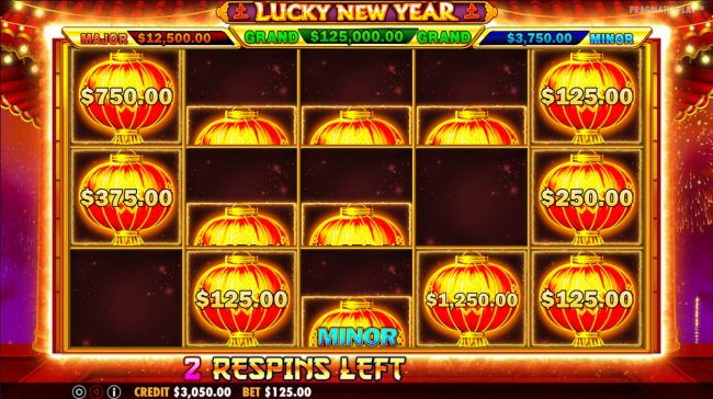 Unique Casino featuring the Video Slots Lucky New Year with a maximum payout of $62,500