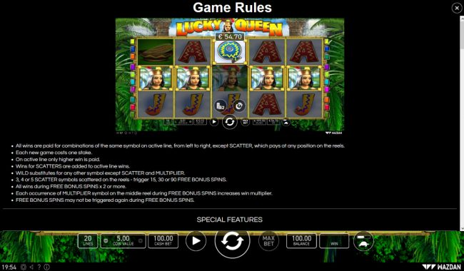 Lucky Queen :: General Game Rules