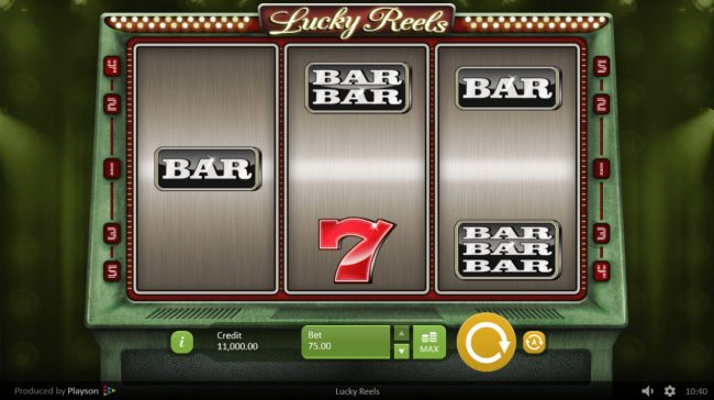Casino-X featuring the Video Slots Lucky Reels with a maximum payout of $375,000