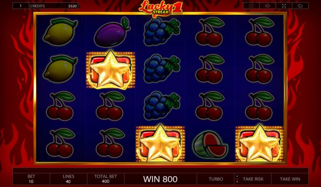 Vegas Crest featuring the Video Slots Lucky Streak 1 with a maximum payout of $200,000