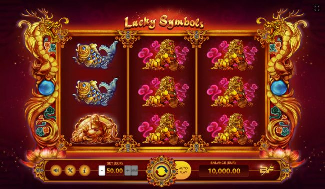 Play slots at Yoyo: Yoyo featuring the Video Slots Lucky Symbols with a maximum payout of $27,000