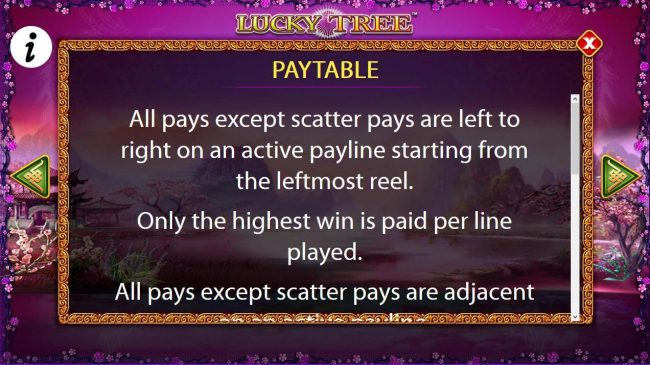 Paytable Rules