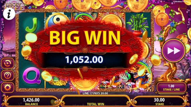 A 1,052.00 Big Win awarded.