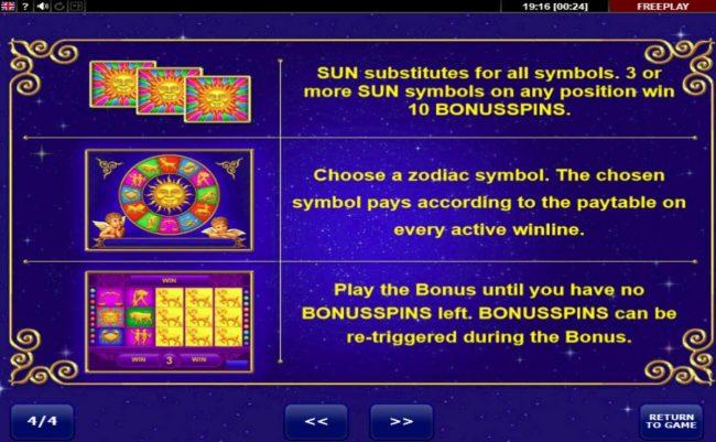 Bonus Game Rules