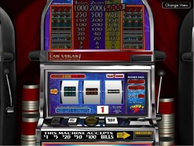 Lucky 7 :: here is an example of a typical 9 coin jackpot