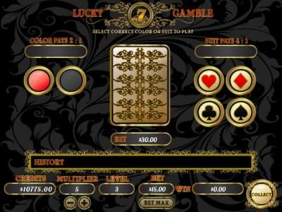 Mission 2 Game featuring the Video Slots Lucky 7 with a maximum payout of