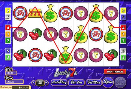 Play slots at Intertops Classic: Intertops Classic featuring the Video Slots Lucky 7s with a maximum payout of $25,000