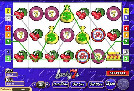 Red Stag featuring the Video Slots Lucky 7s with a maximum payout of $25,000