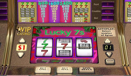 Casino Superlines featuring the video-Slots Lucky 7's with a maximum payout of $12,000